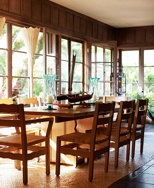 Serene And Practical 40 Asian Style Dining Rooms: East Meets West: Hawaiian Home