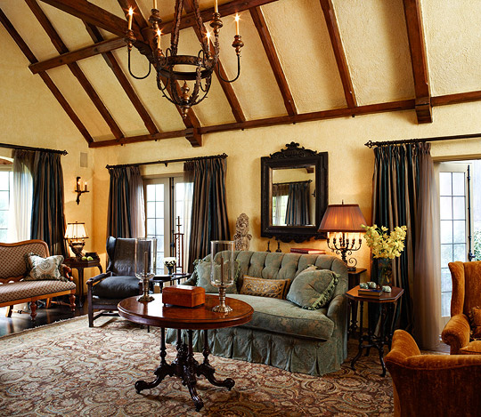 Old world style for a tudor revival house traditional home for Tudor interior design