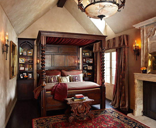 Get the look tudor style traditional home for Old world style beds