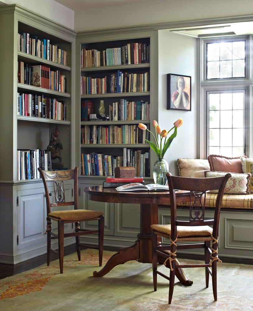Dazzling designer libraries traditional home Traditional home library design ideas