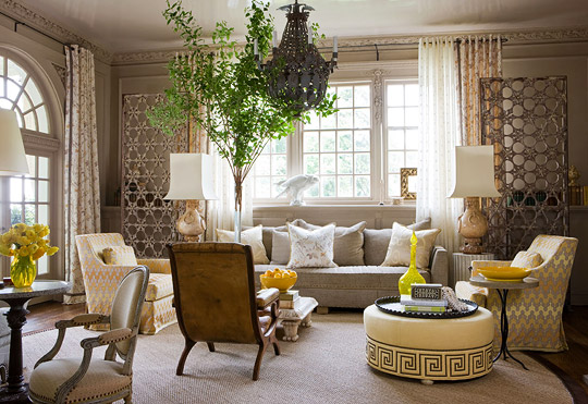 Good Pattern A Singular Living Room Design