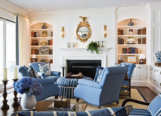 Comfort Loving Living Rooms Traditional Home