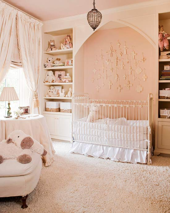 Bedroom decorating ideas young children traditional home - Babyzimmer vintage ...