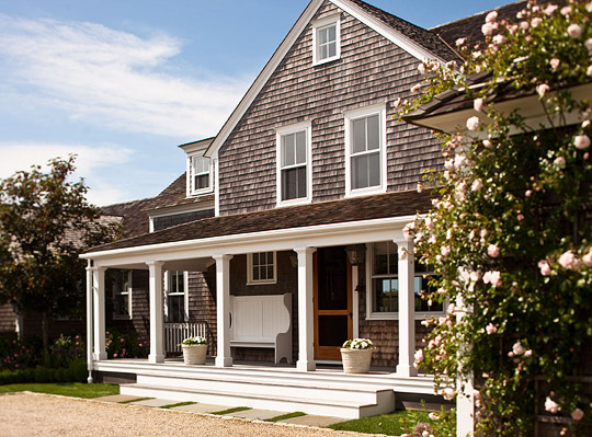 Nantucket summer home traditional home for Traditional beach house designs