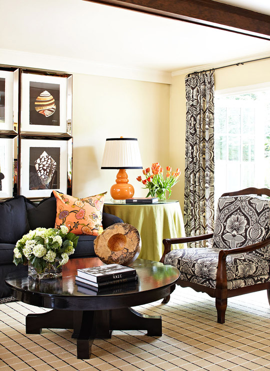 Dazzling Rooms Featuring Black And White Traditional Home