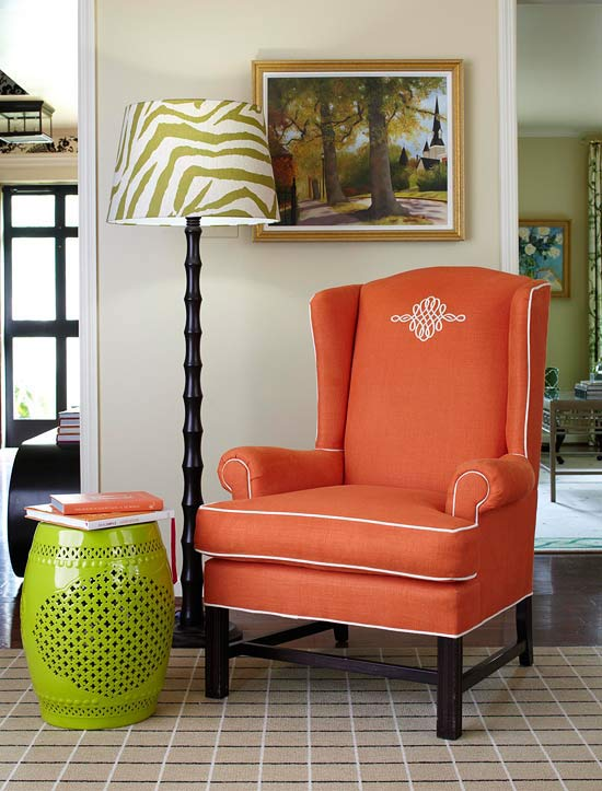 Decorating with Orange, an Instant Pick-Me-Up | Traditional Home