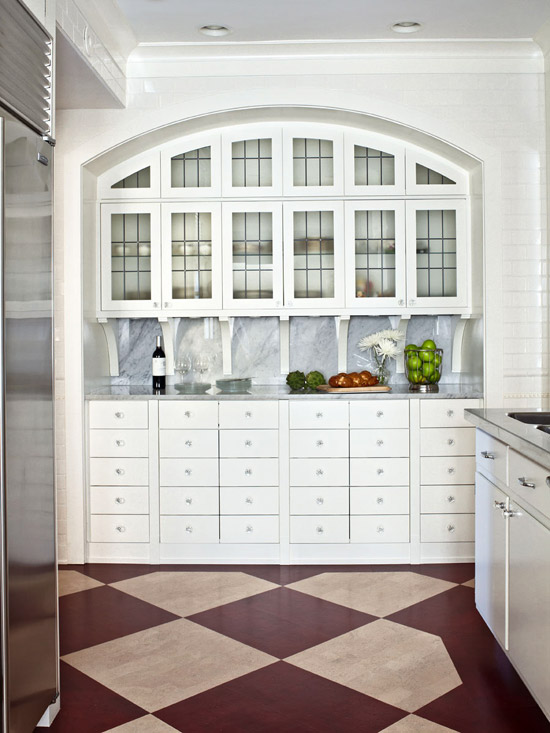 White Kitchen Hutch design ideas for white kitchens | traditional home
