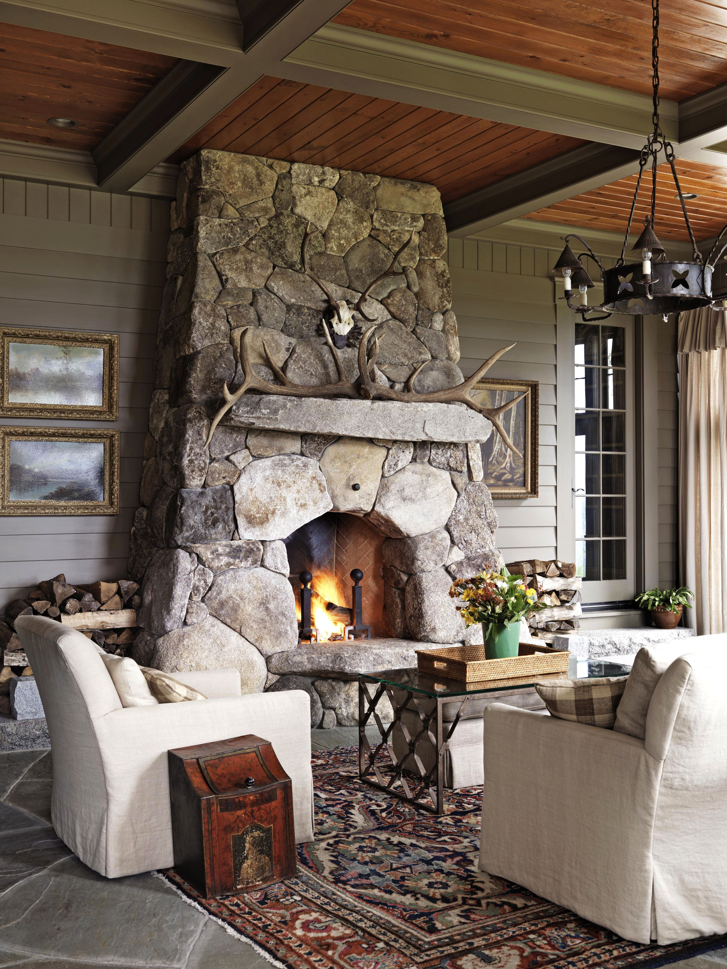 Get The Look Rustic Mantels Traditional Home
