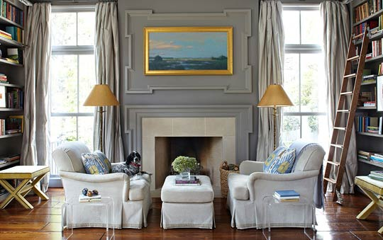 Rooms With Gray Walls decorating: gorgeous gray rooms | traditional home