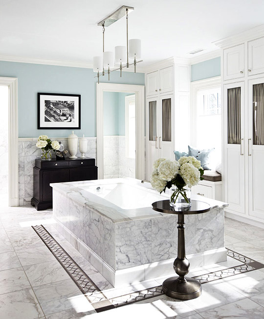 White Master Bathrooms