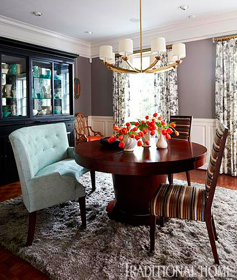 ENLARGE. Our Best Before and After Dining Rooms   Traditional Home