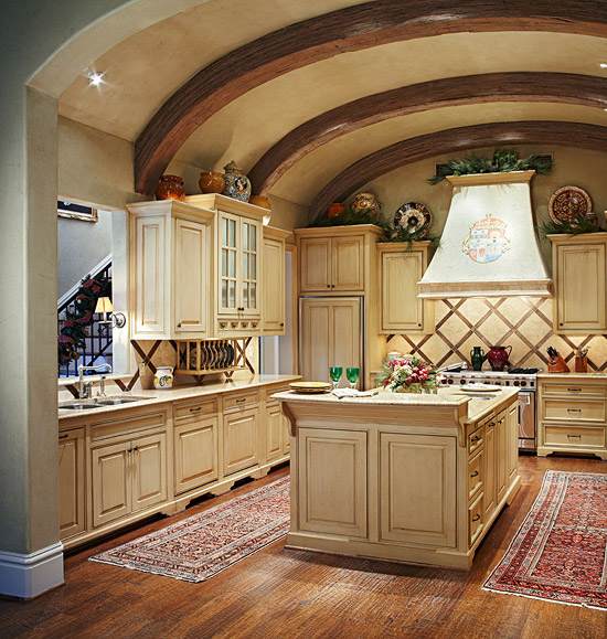 French Country Kitchen Cabinet Colors: Traditional Home