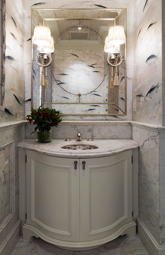 Create a Smashing Powder Room | Traditional Home