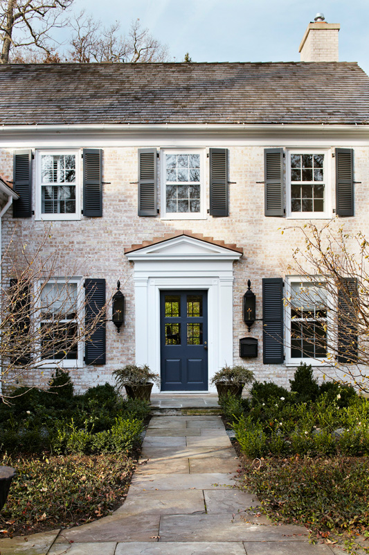 Get the look georgian style architecture traditional home - Georgian style exterior lighting ...