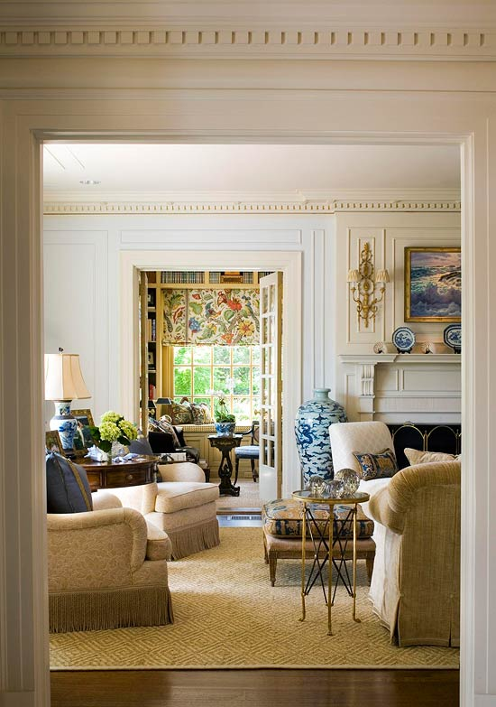 Traditional Interior Design By Ownby: Pretty Color For An Architectural Classic
