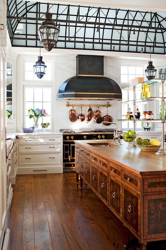 Fab Kitchen With Soaring Ceiling Traditional Home