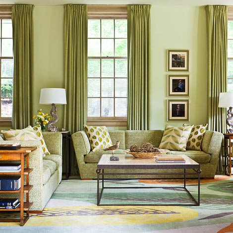 + ENLARGE. Gordon Beall. Modern Green Family Room