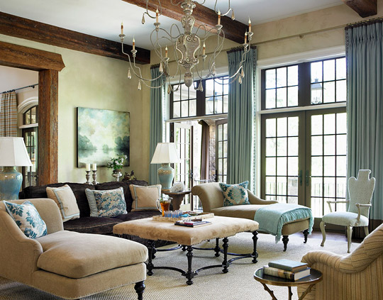 Elegant living rooms in neutral colors traditional home for Traditional home decor