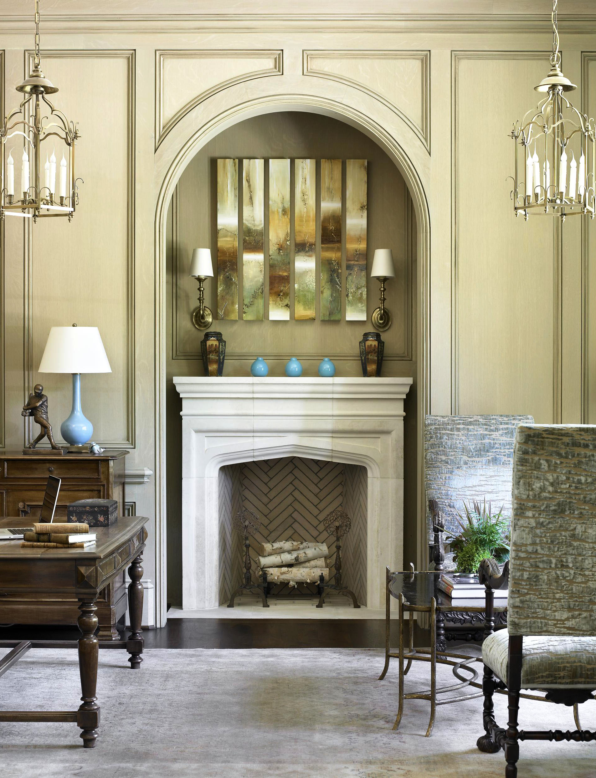 Phenomenal Get The Look Contemporary Mantels Traditional Home Download Free Architecture Designs Rallybritishbridgeorg