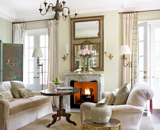 cozy repose in the living room - Traditional Living Room Design Ideas