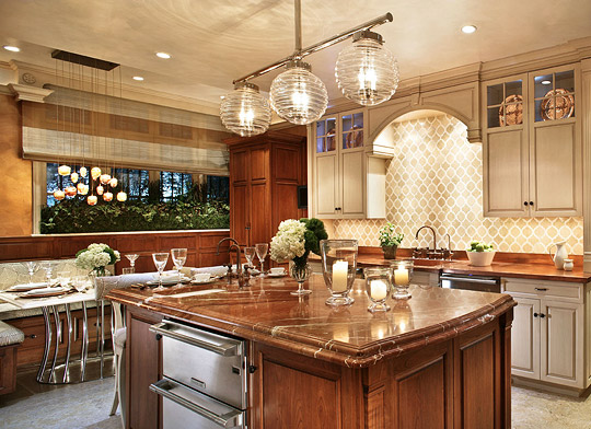 Stylish Islands For Traditional Kitchens