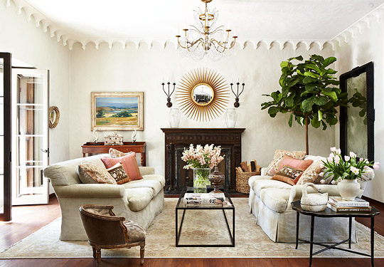 Decorating ideas elegant living rooms traditional home for Decorate my living room