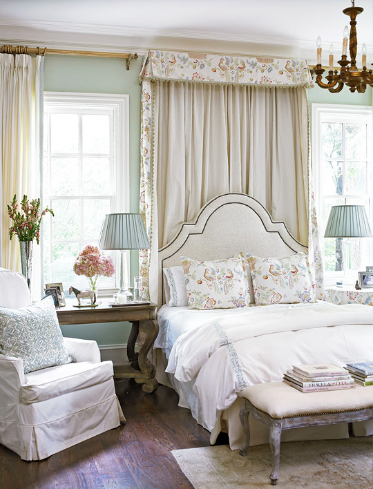 + ENLARGE & Dramatic Bed Canopies and Draperies | Traditional Home
