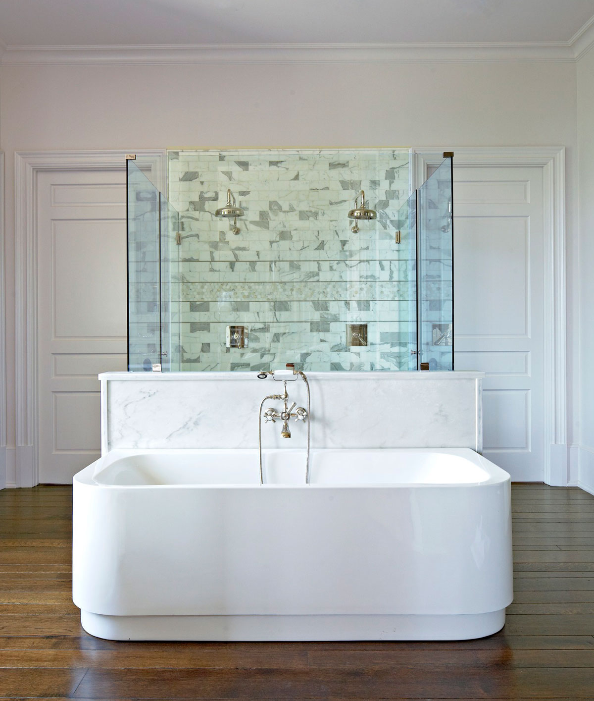 Marble Design Ideas for Your Master Bath | Traditional Home