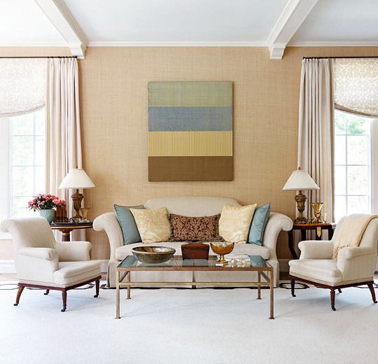 Chic Elegance Of Neutral Colors For The Living Room 10 Amazing Examples: Designer Skip Sroka's Own Home