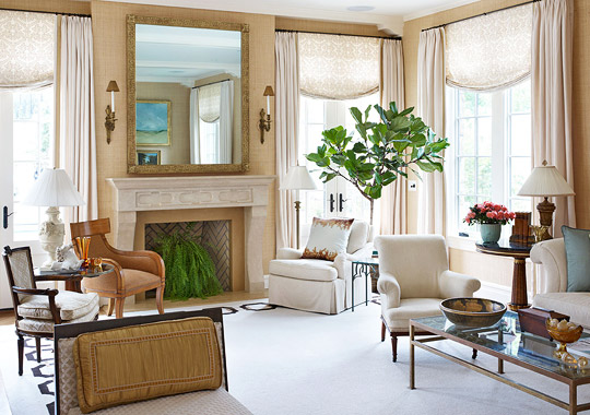 Classic Lines This Fireplace View Of Designer Skip Srokas Washington DC Living Room