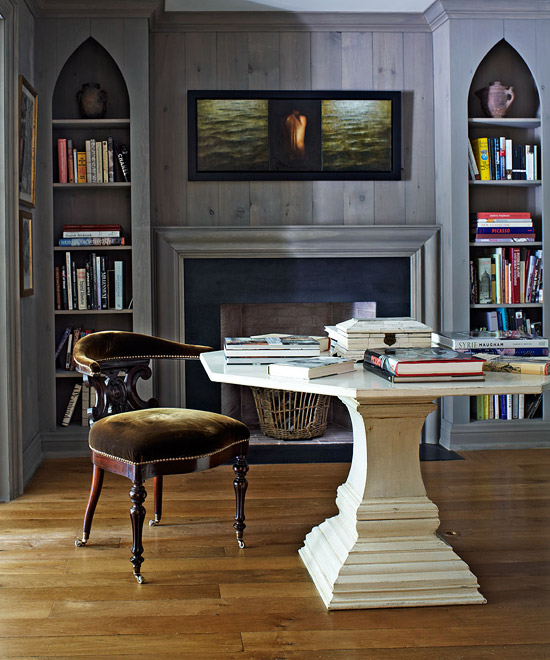 Den Library Office: Beautiful, Glamorous Home With Casual Comfort