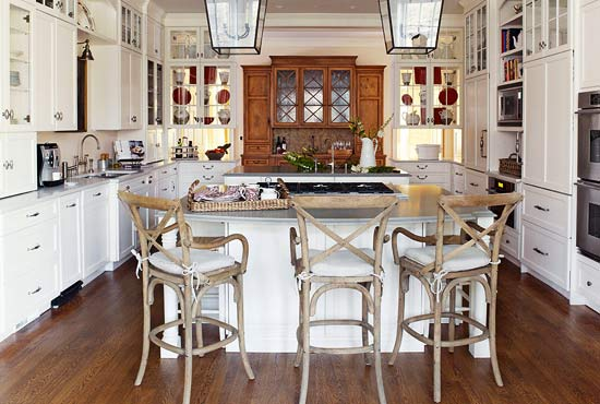 Kitchen Design White Cabinets Wood Floor design ideas for white kitchens | traditional home