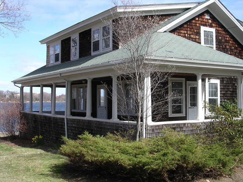 Get the look shingle style traditional home for Shingle style siding