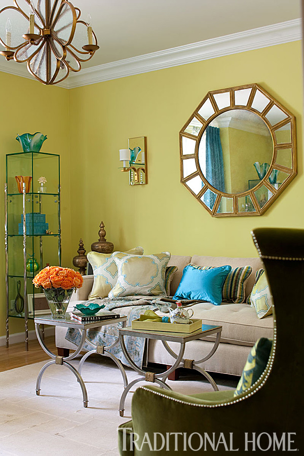Colorful Showhouse Rooms Traditional Home