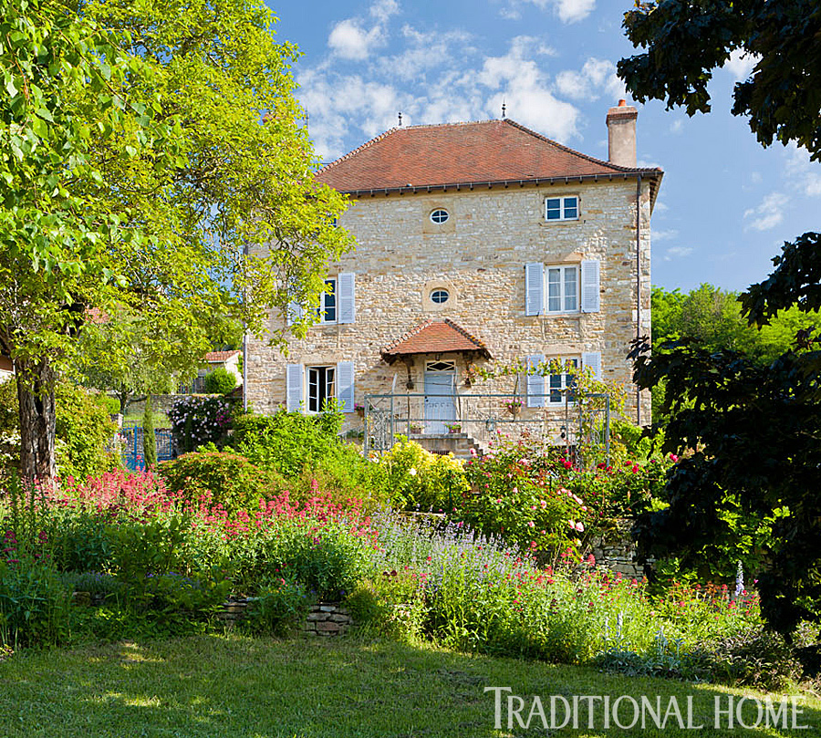 british garden in the french countryside traditional home