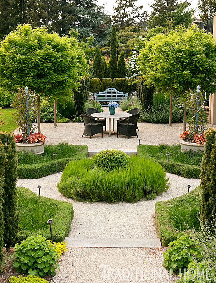 French inspired garden in the pacific northwest for French garden