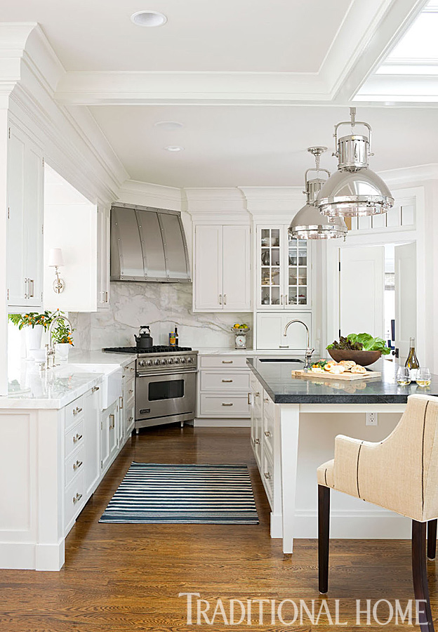 Before and after casual california home traditional home for Casual home kitchen island