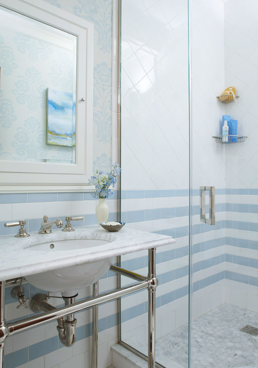 Decorating Ideas for Blue-and-White Bathrooms | Traditional Home