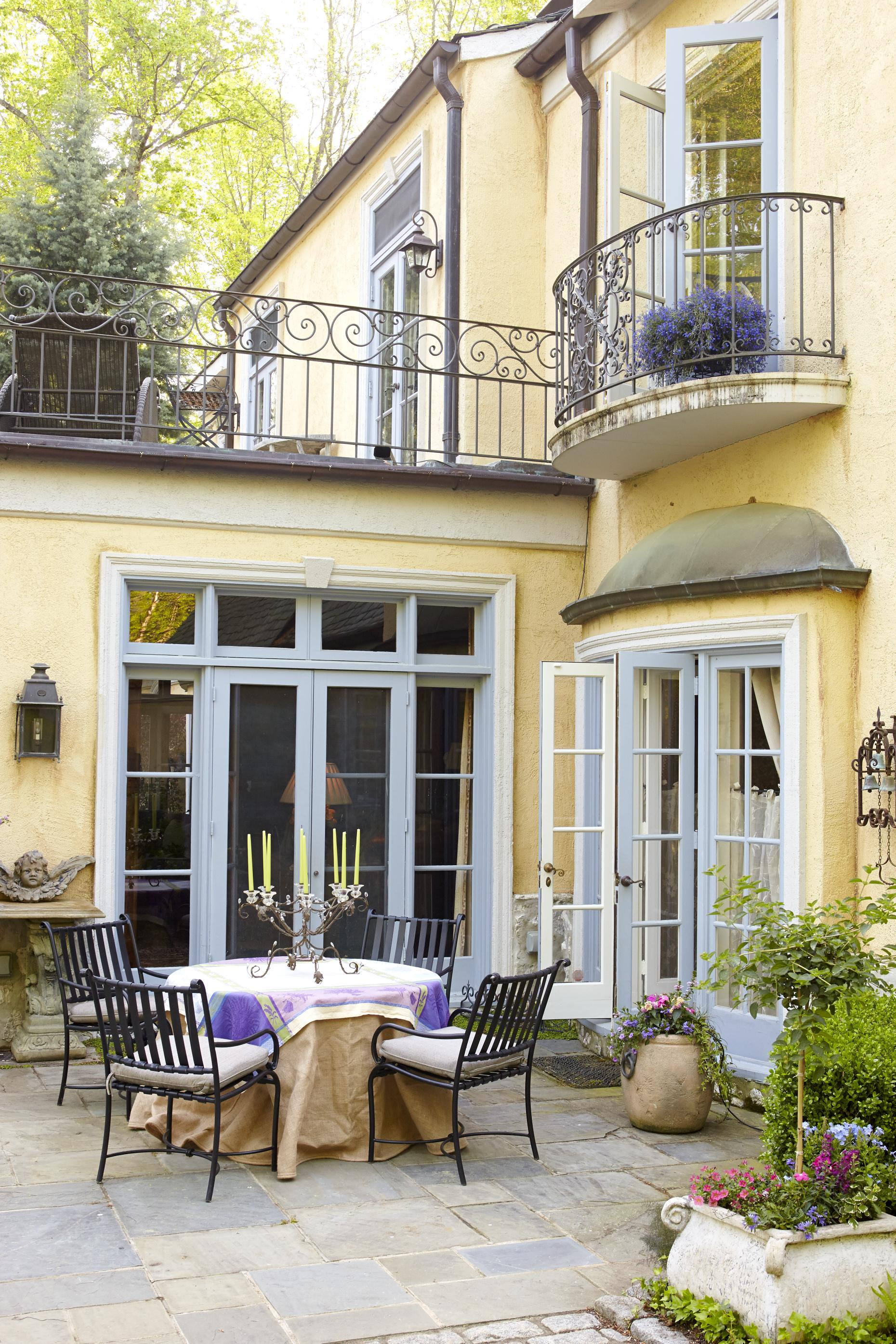 French Exterior: Country French Loggias