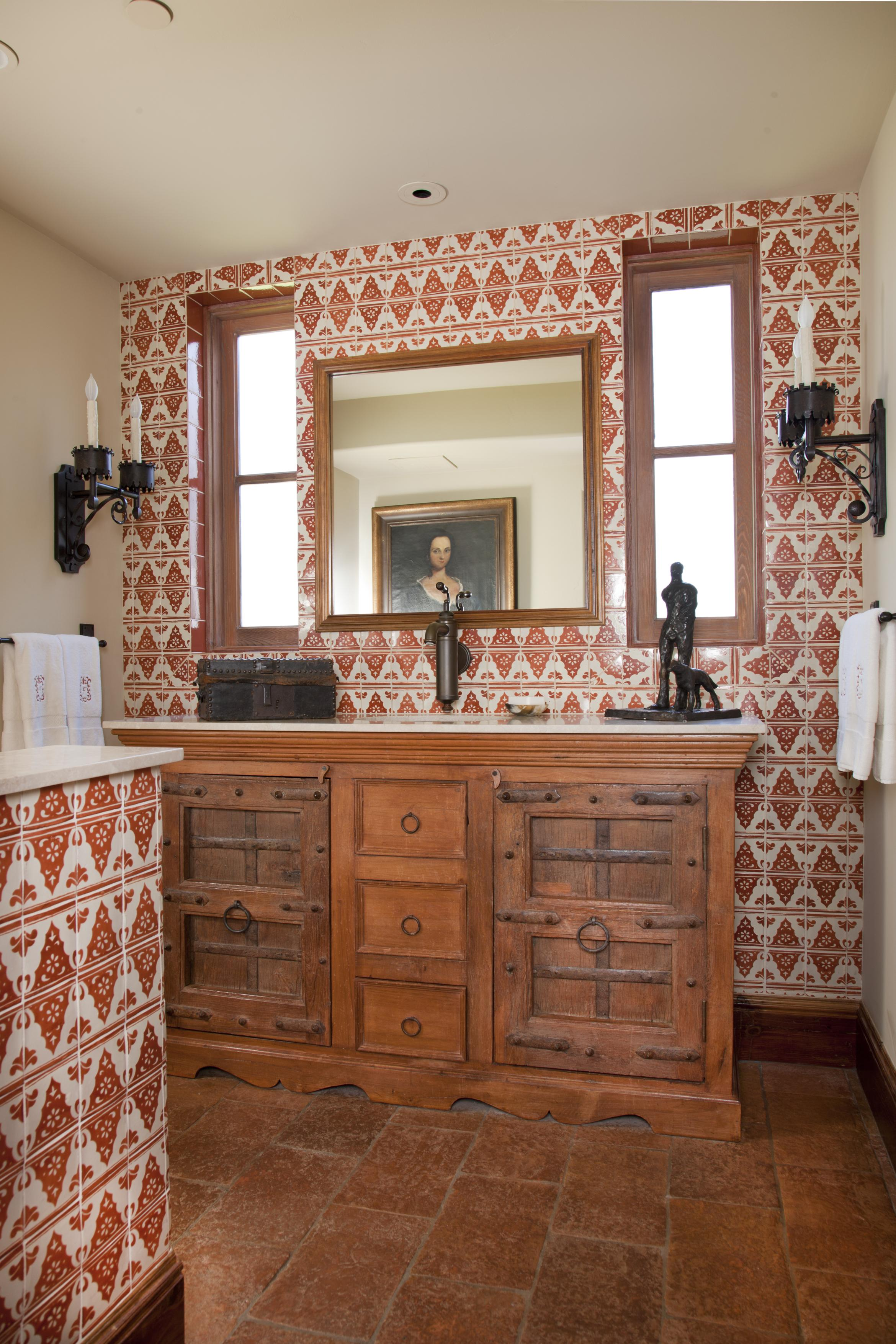 Mediterranean-Style Powder Rooms | Traditional Home