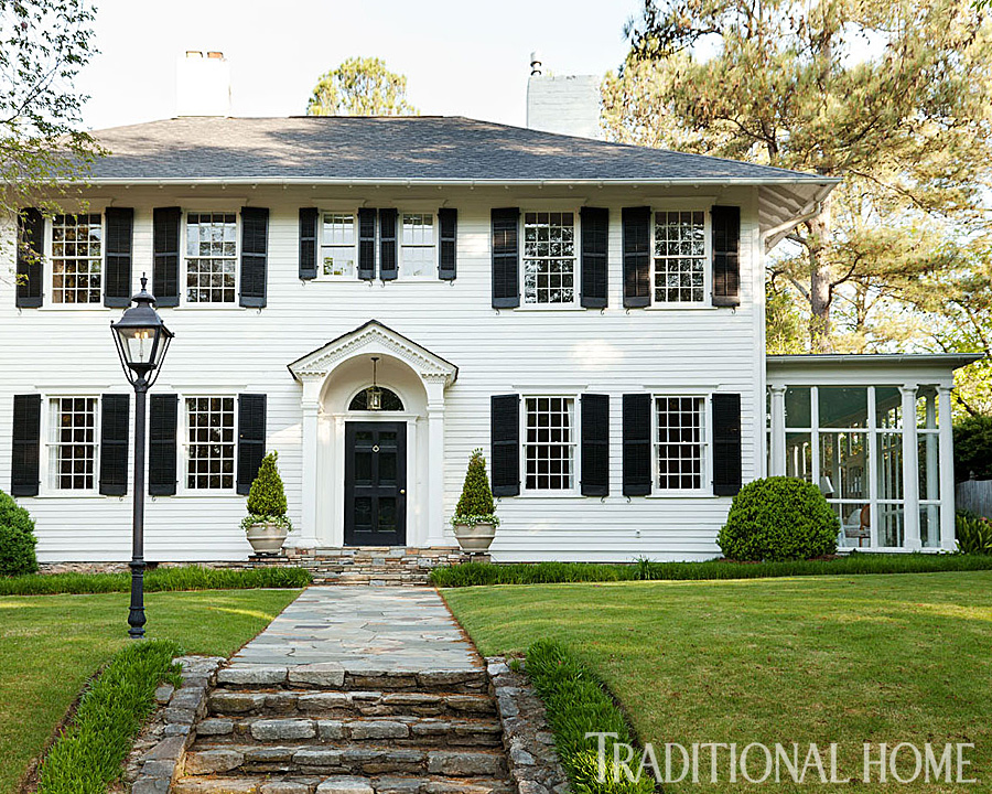 Before and after updated atlanta classic traditional home for Classic house design