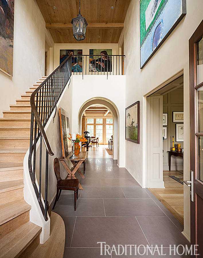 Contemporary Home Foyers : New home with modern and traditional elements