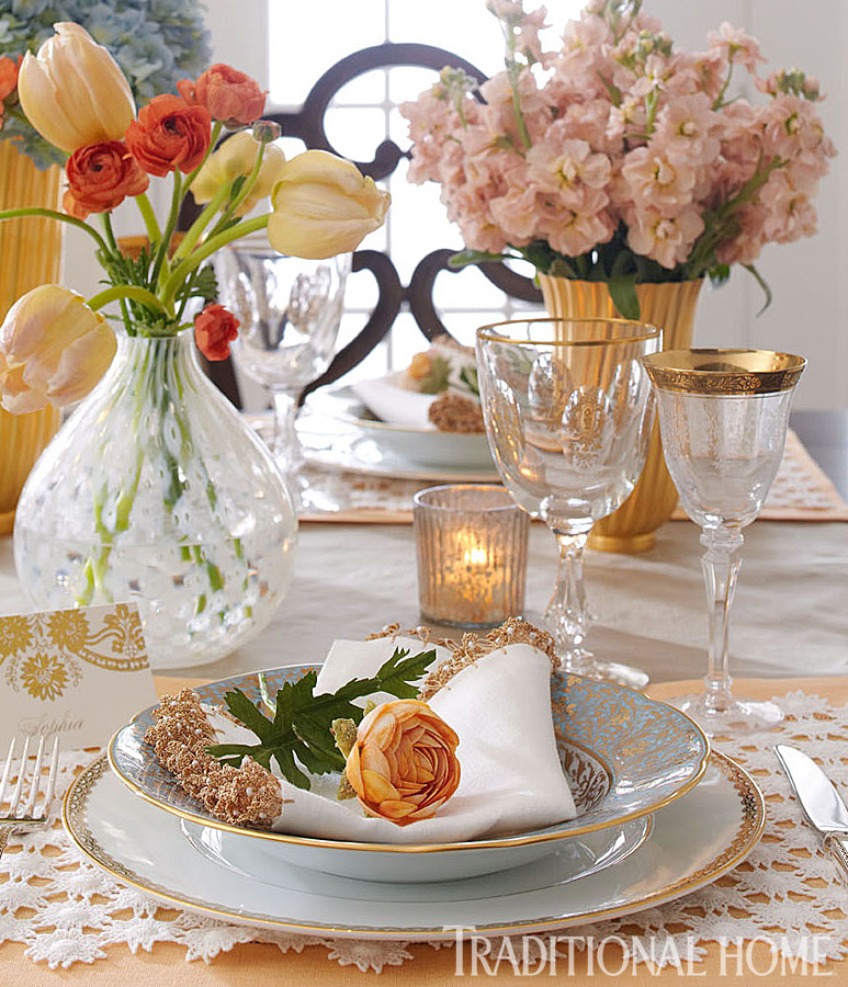 Elegant Spring Breakfast Traditional Home