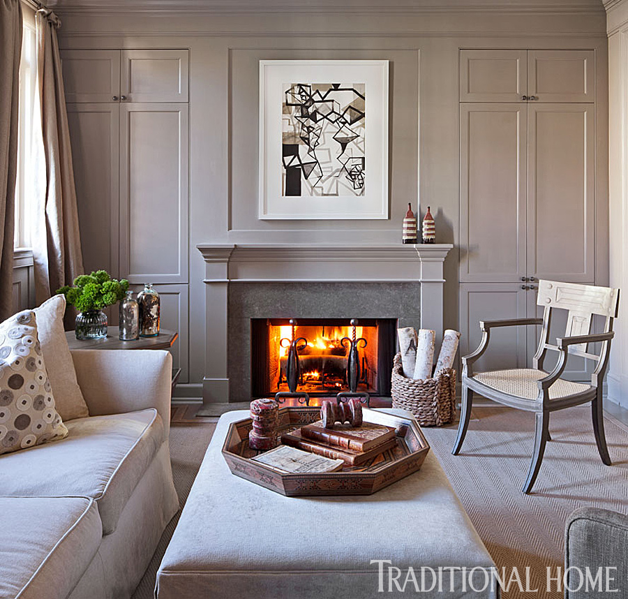 home salon design.  ENLARGE Handsome Traditional Townhome Home