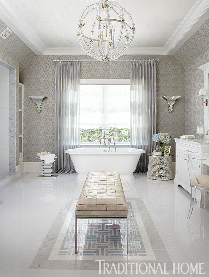 traditional white bathroom ideas. + ENLARGE Traditional White Bathroom Ideas I