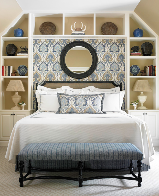 Stylish storage ideas for small bedrooms traditional home - Bed frames for small rooms ...