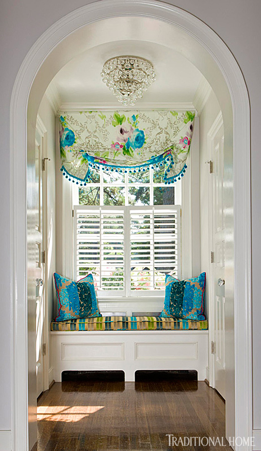 Curtains Ideas curtains for window seat : Decorating Ideas: 15 Window Seats | Traditional Home