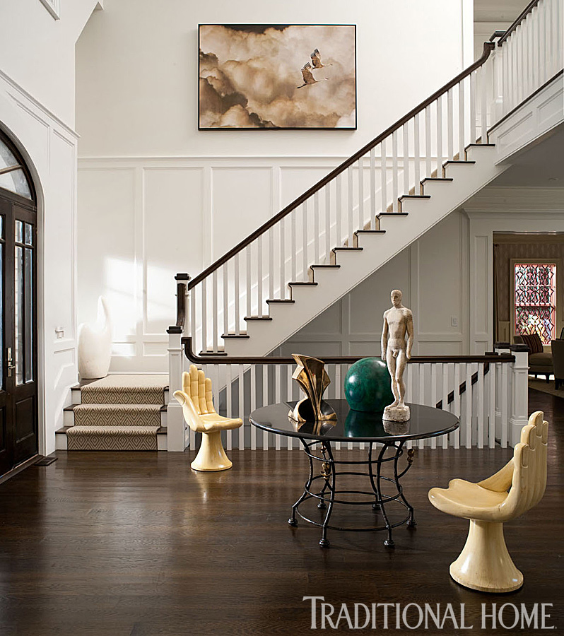 Two Story Foyer Wall Art : Hampton designer showhouse traditional home