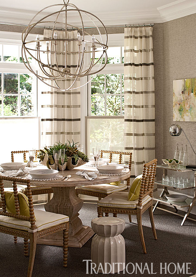 Showhouse kitchen with great use of texture traditional home for Traditional home great kitchens