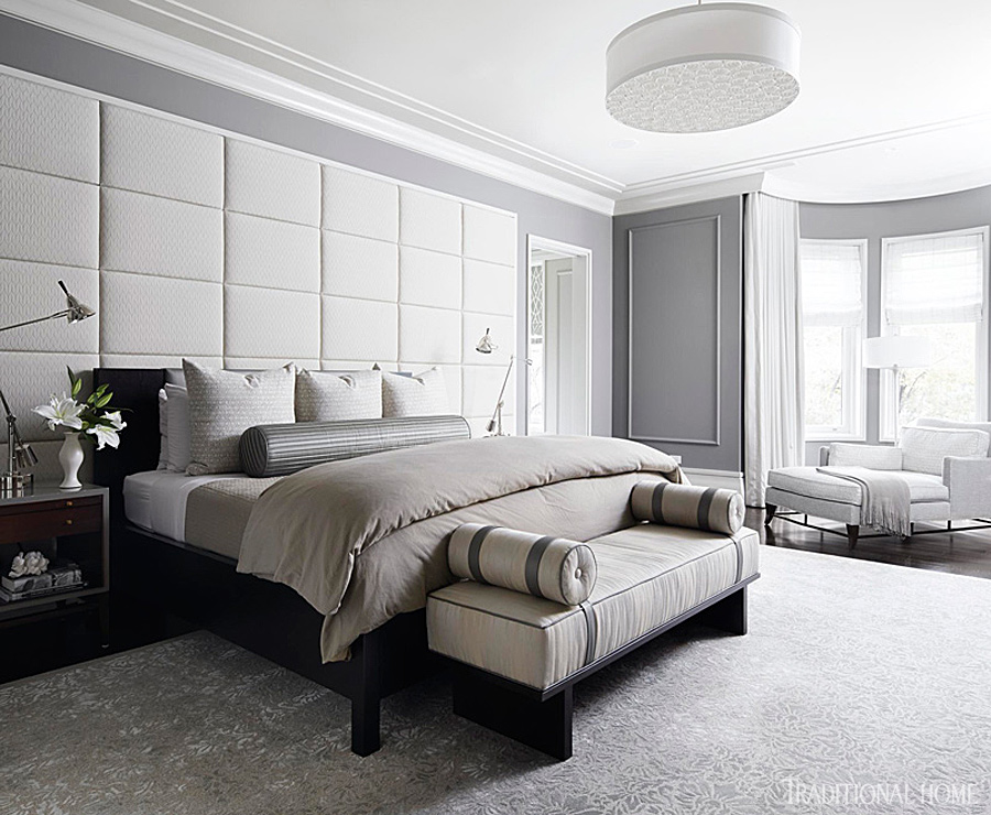 Gray And White Bedroom gorgeous gray-and-white bedrooms | traditional home